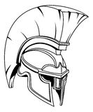 Spartan or Trojan Gladiator Helmet. A Spartan, Trojan or Roman gladiator Greek style warrior helmet stock illustration