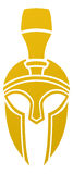 Spartan or Trojan helmet icon Royalty Free Stock Photography