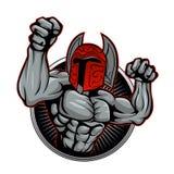 Spartan Trojan Mascot Royalty-vrije Stock Afbeelding