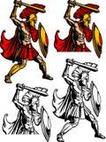 Spartan / Trojan Mascot Logo Stock Image