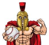 Spartan Trojan Baseball Sports Mascot stock images