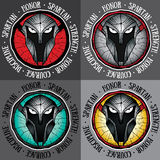 Spartan warrior design  illustration Royalty Free Stock Photo