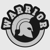 Spartan warrior emblem Royalty Free Stock Photos