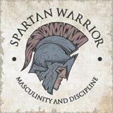 Spartan warrior. Emblem vintage style Stock Image