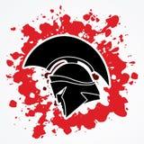 Spartan warrior helmet Stock Images
