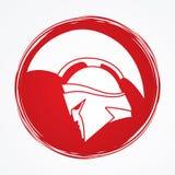 Spartan warrior helmet Royalty Free Stock Image