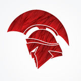 Spartan warrior helmet. Graphic vector vector illustration