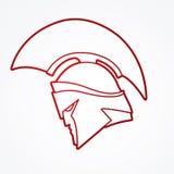 Spartan warrior helmet Royalty Free Stock Photos