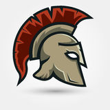 Spartan warrior Helmet Stock Image