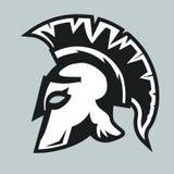 Spartan warrior Helmet. Spartan Helmet silhouette, Greek warrior - Gladiator, legionnaire heroic soldier. vector Stock Images