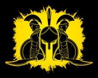 Spartan warrior pose graphic vector. Stock Photo