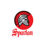 Spartan warrior with a shiny helmet icon Royalty Free Stock Image