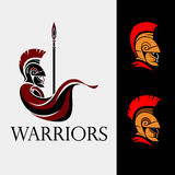 Spartan warrior with spear. Ancient greek warrior from Sparta with spear Royalty Free Stock Photos