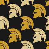 Spartan warriors seamless pattern Royalty Free Stock Photos