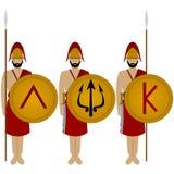 Spartan warriors-1 Stock Image