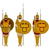 Spartan warriors Stock Photo