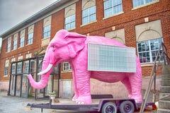 Spartanburg South Carolina stadshorisont och i stadens centrum omge Royaltyfri Foto