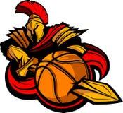 Spartanische Basketball-Abbildung Lizenzfreies Stockfoto