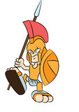 Spartanische Kriegerskarikatur Stockfotos