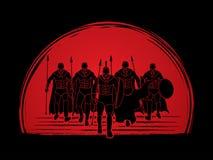 Spartanischer Krieger Stockfotos