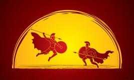 Spartanischer Krieger Lizenzfreies Stockbild