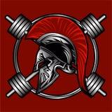 Spartanisches Eignungsvektordesign Lizenzfreies Stockfoto