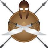 Spartanisches Symbol Lizenzfreie Stockbilder