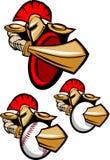 Spartanisches/Trojan Maskottchen-Zeichen Lizenzfreie Stockfotografie