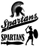 Spartans Team Mascot Royalty Free Stock Photography