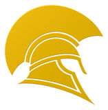 Spartansk eller Trojan hjälmsymbol stock illustrationer