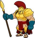 spartansk gladiatorillustration royaltyfri illustrationer