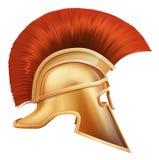 spartansk hjälmillustration royaltyfri illustrationer