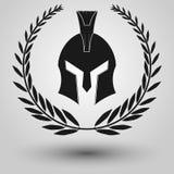 Spartansk hjälmkontur Arkivfoton