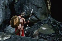 Spartansk krigare i träna Royaltyfria Foton