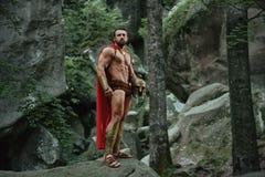 Spartansk krigare i träna Fotografering för Bildbyråer