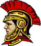 spartansk trojan för logomaskot stock illustrationer