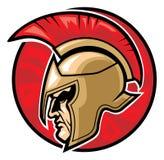 Spartanskt krigarehuvud  Arkivfoton