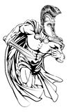 Spartanskt med svärdet Royaltyfri Fotografi