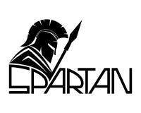 Spartanskt svart tecken Fotografering för Bildbyråer