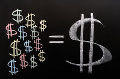 Sparungen der Dollar stockfotografie