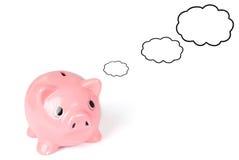 Sparungen der Piggy Querneigung Lizenzfreie Stockbilder