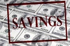 Sparungen des Bargeldes lizenzfreie stockfotos