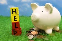 Sparungs-Hilfe Stockfoto