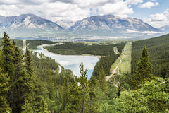 Spary Lake and Canmore Stock Image