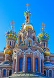 Spas. Cathedral of the Savior on the Spilled Blood (Spas-na-krovi Royalty Free Stock Photography