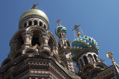Spas-na-krovi. Russia, St.Petersburg. Spas-na-krovi (Temple of the Resurrection of Christ Stock Photography