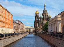 Spas-na-krovi cathedral in Saint-Petersburg Stock Images