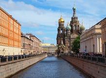 Spas-na-krovi cathedral in Saint-Petersburg Stock Images