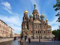 Spas-na-krovi cathedral in Saint-Petersburg Royalty Free Stock Photos