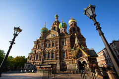 Spas-na-krovi cathedral in St.Petersburg Royalty Free Stock Photos